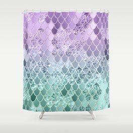 Mermaid Glitter Scales #1 #shiny #decor #art #society6 Shower Curtain