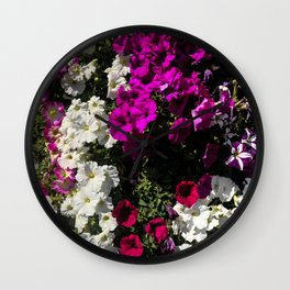 Petunia Tower Wall Clock