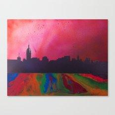Neon Skyline Canvas Print