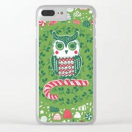 Festive Owl Clear iPhone Case