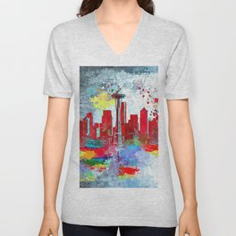 Seattle Grunge Unisex V-Neck