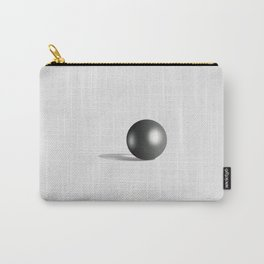 Perfect Black Pearl on white satin background Carry-All Pouch