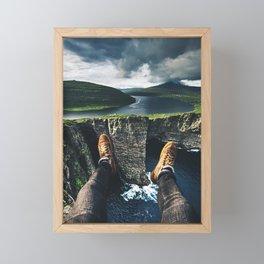 at the edge of the world Framed Mini Art Print