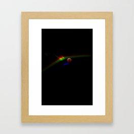 Super Moon Rainbow Framed Art Print