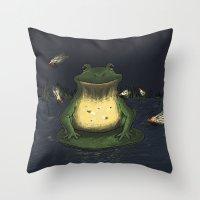 fireflies Throw Pillows featuring Fireflies by Ken Coleman