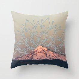 Mountain Mandala Throw Pillow