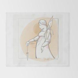 Saint Distaff's Day Throw Blanket