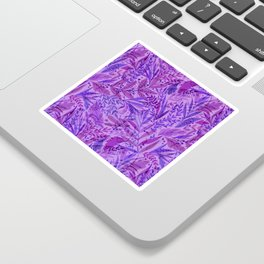 Purple Palm Pattern Sticker