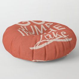 Go Jump in the Lake Floor Pillow