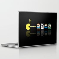 tintin Laptop & iPad Skins featuring Pacman with Tintin Ghosts by NicoWriter
