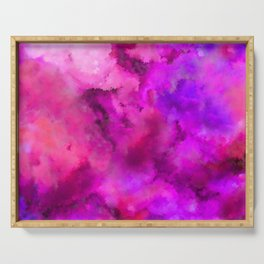 Abstract Pour Art - Pink and Purple Serving Tray