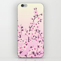 cherry blossoms iPhone & iPod Skins featuring Cherry Blossoms by Nina Baydur