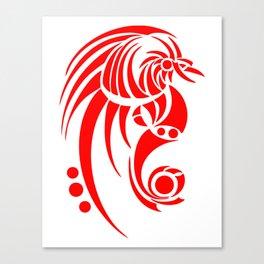 Dragosseria - red fantasy dragon Canvas Print