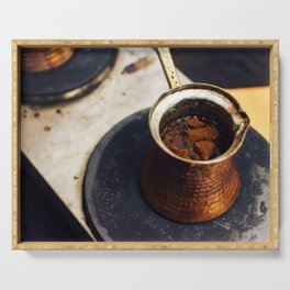 Turkish Coffee made in Cezve Serving Tray