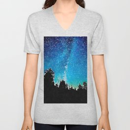 Night Sky Unisex V-Neck