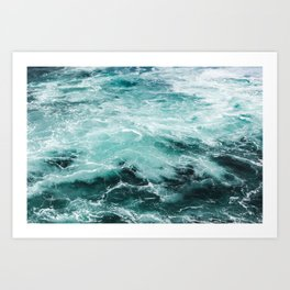 Water Photography | Sea | Ocean | Pattern | Abstract | Digital | Turquoise Art Print
