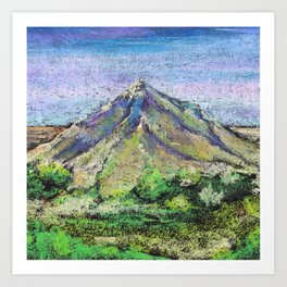 The view from Mashuk mountain (Pyatigorsk). Ladscape be pastel Art Print