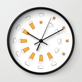 The Freelancer's Clock AM/PM Wall Clock