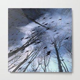 Crows Top Of The Sky Metal Print