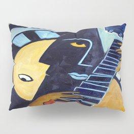 Blues Guitarist Pillow Sham