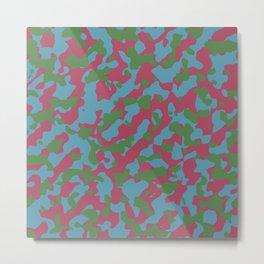 Camouflage Hippie Metal Print
