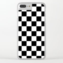 Checkered (Black & White Pattern) Clear iPhone Case