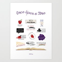 Once Upon a Time Quotes Art Print