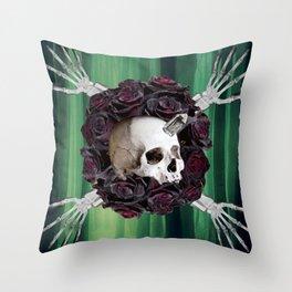 Skully Hands Throw Pillow