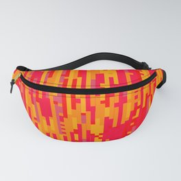 Magma Glitch - Digital Glitch Art Fanny Pack
