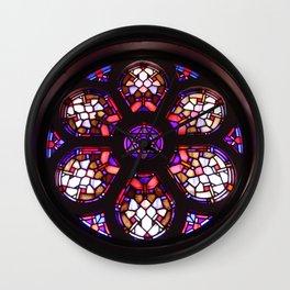 Iglesia del Valle Rosary Window Wall Clock