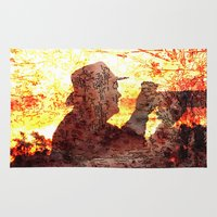 photograph Area & Throw Rugs featuring the photograph by MehrFarbeimLeben