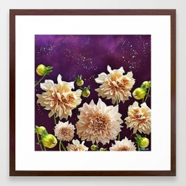 Dahlias in Space Framed Art Print