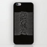 joy division iPhone & iPod Skins featuring Joy Division - Unknown Pleasures by juice debowski-yu