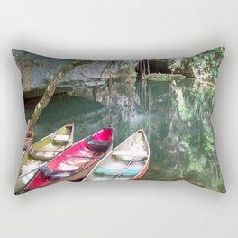Journey to the Underworld via Belize Cave Rectangular Pillow