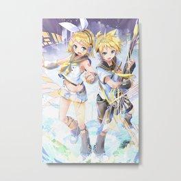 Kagamine Len Vocaloid Metal Print