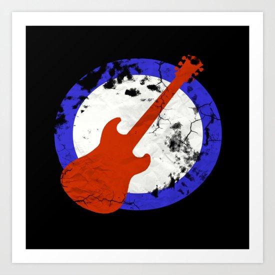 Guitar Mod Art Print