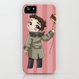 Castiel Loves Hamburgers iPhone Case