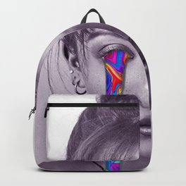 Colorful tears artwork ( black and white with rainbow colors ) Backpack