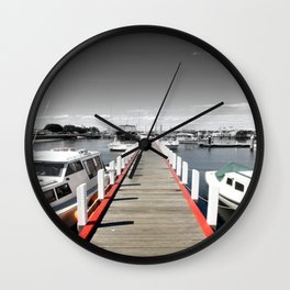 Follow the red Line Wall Clock
