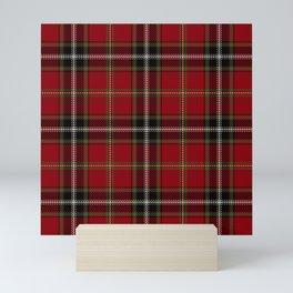 Classic Christmas Red Tartan Plaid Mini Art Print