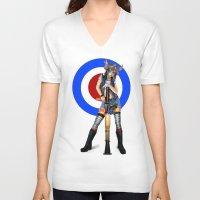 tank girl V-neck T-shirts featuring Tank Girl by Valérie Loetscher (Vay)