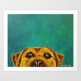 Jeremy's Dog, a Golden Lab Art Print