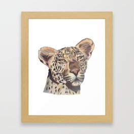 leopard dark Framed Art Print