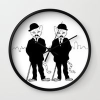 tintin Wall Clocks featuring Thomson and Thompson by Hannighan
