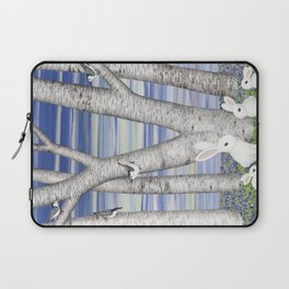 nuthatches, bunnies, and birches Laptop Sleeve