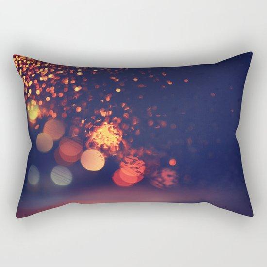 Driving In The Rain Rectangular Pillow