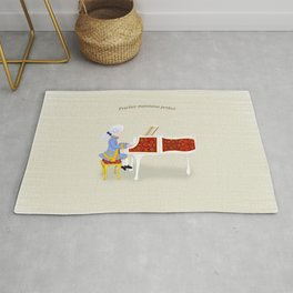Young Mozart Playing the Piano: Practice Maintains Perfect Rug