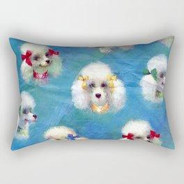Poodle Mania Rectangular Pillow
