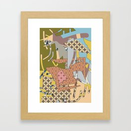 Cross Continental Framed Art Print