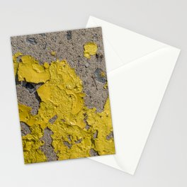 Yellow Peeling Paint on Concrete 2 Stationery Cards